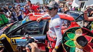 Ogier se impone en el Rally México 2019.