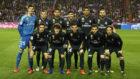 Once del Real Madrid frente al Valladolid.