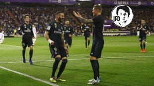 Benzema, Kroos y Odriozola, tres de los que demostraron ganas y...
