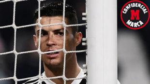 Cristiano en un partido de la Juventus