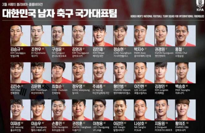 Kangin, el sexto de la fila de abajo empezando por la izquierda.