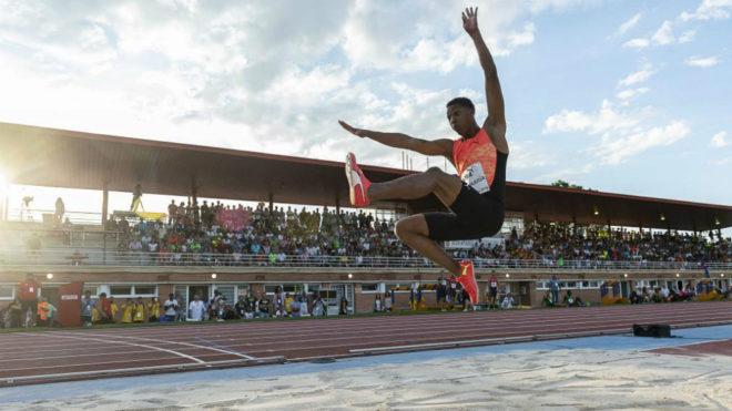 Juan Miguel Echevarría durante una competición el año pasado en...