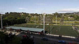 Campo de fútbol de A Xunqueira.