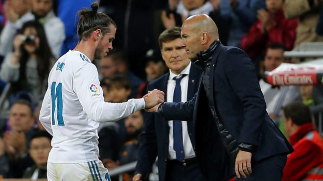 Image result for gareth bale and zinedine zidane