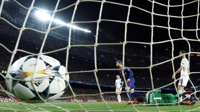 El Barça marca un gol a la Roma en la eliminatoria de cuartos del...