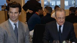 Florentino y Solari en la comida de Navidad