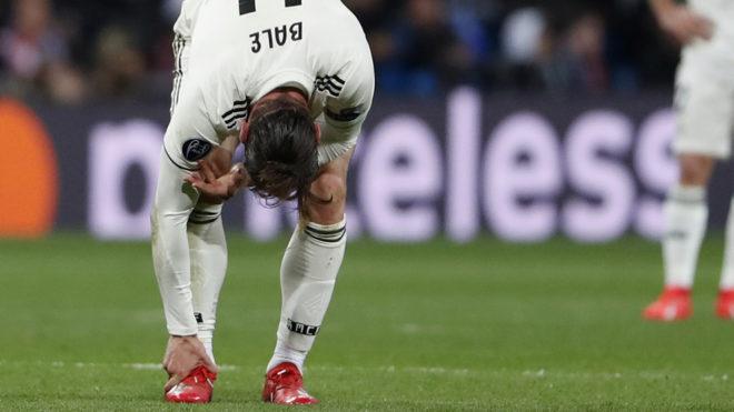 Gareth Bale damaged his ankle against Ajax