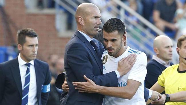 Zidane y Ceballos, durante su primera etapa juntos en el Madrid.