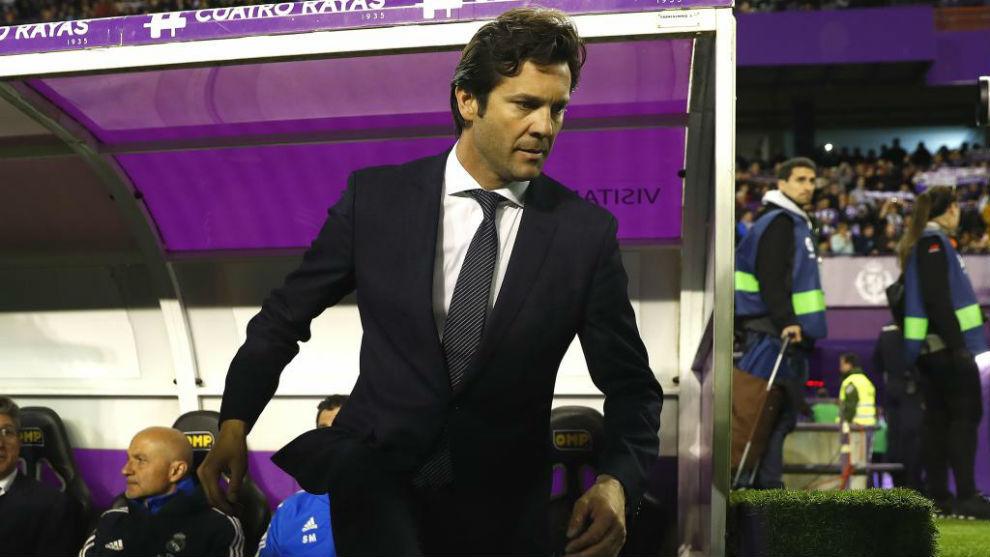 Solari, en su último partido al frente del Madrid en Valladolid.