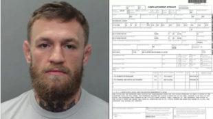 Imagen de la ficha policial de Conor McGregor ofrecida por la Policía...