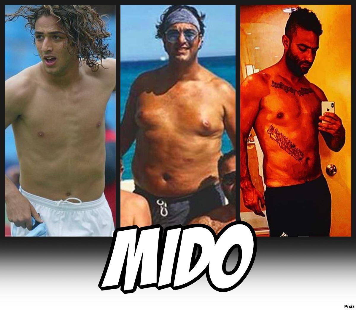 La increíble pérdida de peso del futbolista Mido