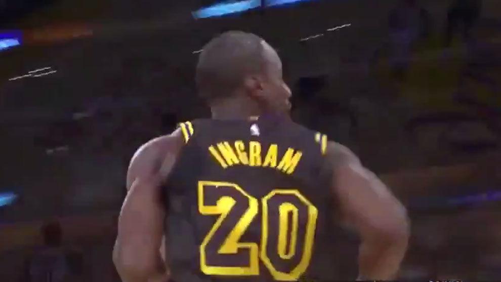 Andre Ingram en su único partido con los Lakers
