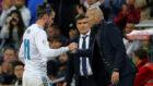Bale y Zidane, durante un partido de la pasada temporada.