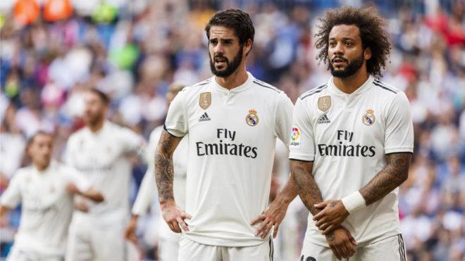 Isco y Marcelo, durante un partido de esta temporada.