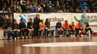 Prades durante un partido con el Atlético Guardés /