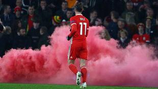Gareth Bale, durante su último partido con Gales.