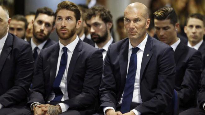 Sergio Ramos and Zinedine Zidane