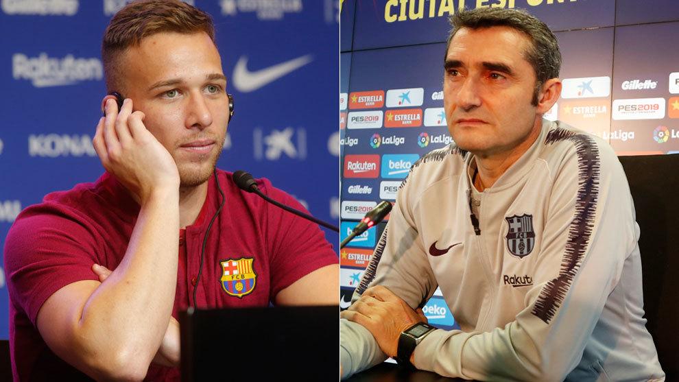 FC Barcelona  Rueda de prensa de Arthur y Valverde en la previa de  Champions b17ef159f8e