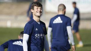 Marc Gual sonríe en un entrenamiento.