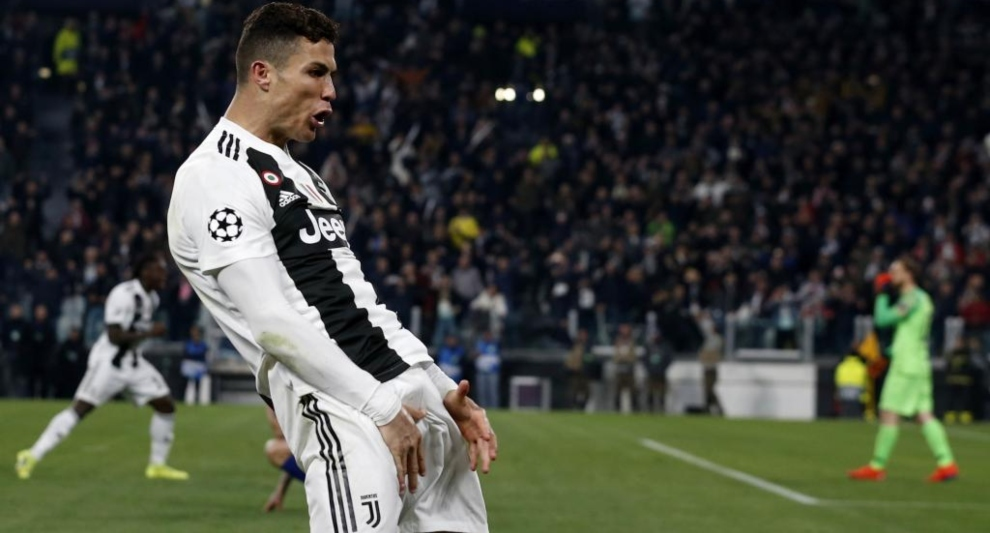 Image result for cristiano ronaldo celebration vs atletico madrid marca