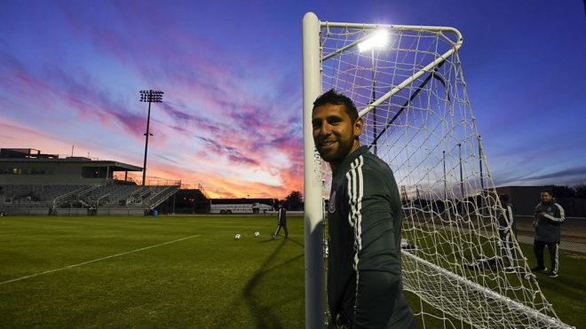 Orozco en un entrenamiento del Tricolor.