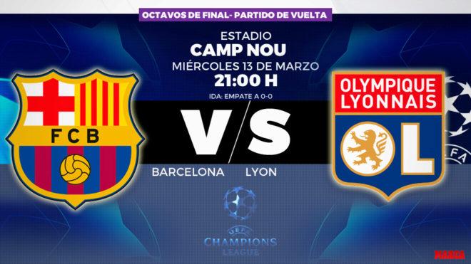 Barcelona vs Olympique Lyon