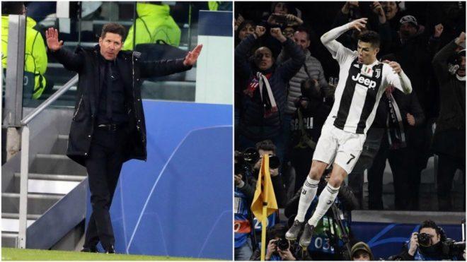 Diego Simeone y Cristiano Ronaldo.