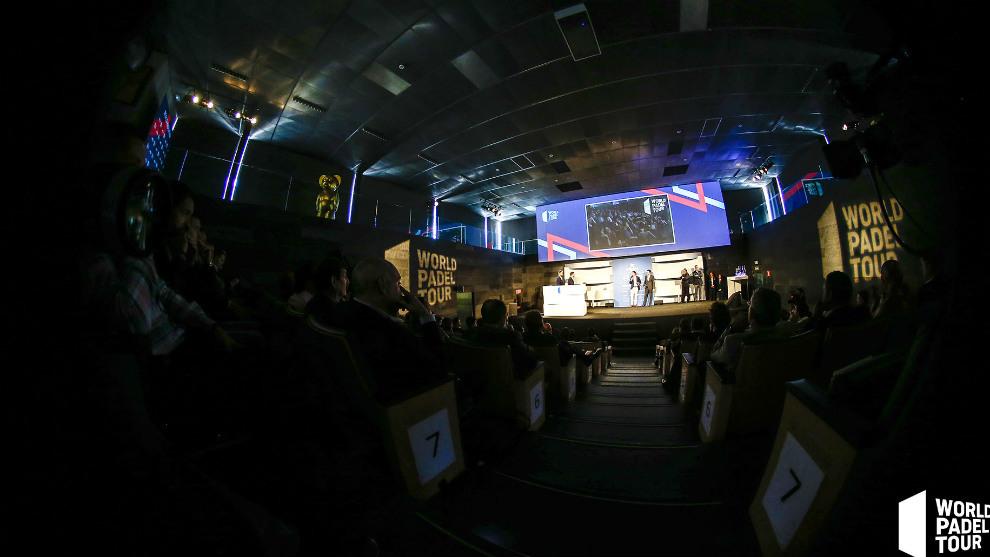 Aspecto de la gala de presentación del World Pádel Tour 2019