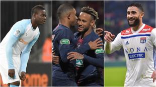 Balotelli, Mbappé, Neymar y Fekir.