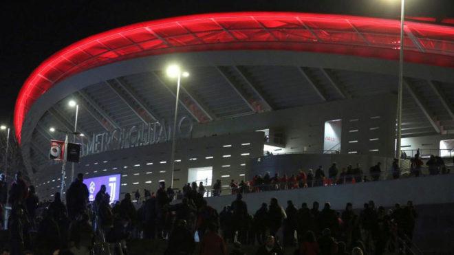 Imagen de los exteriores del Wanda Metropilitano.