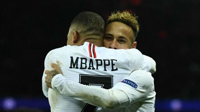 Neymar y Mbappé, en un partido con el PSG