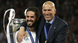 Isco y Zidane, en Kiev