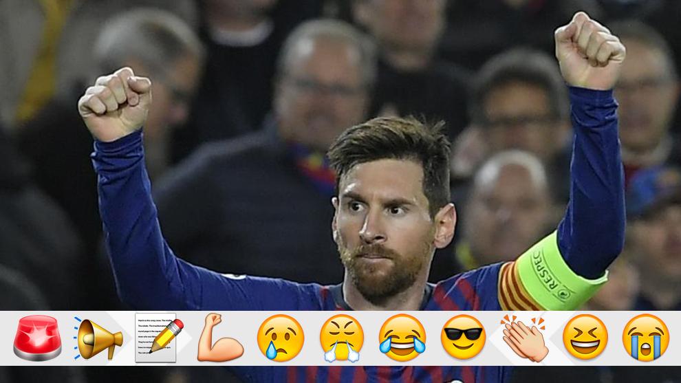 Messi celebra un gol del Barça