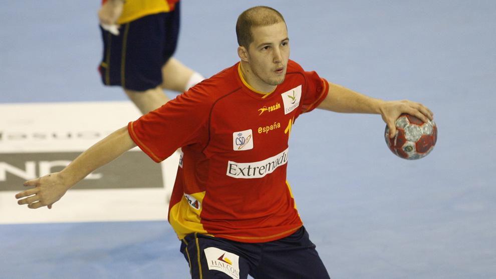 Cristian Malmagro, durante un partido con la selección española en...