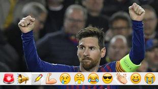 Messi celebra un gol contra el Barça