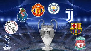 Los cuatro equipos que estarán en el sorteo de la Champions de este...
