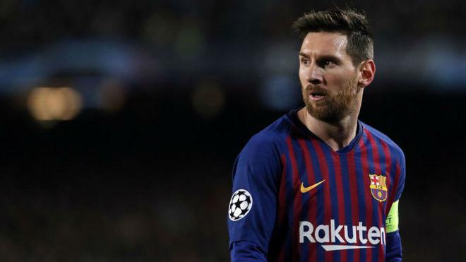 Leo Messi, en el Barcelona vs O. Lyon