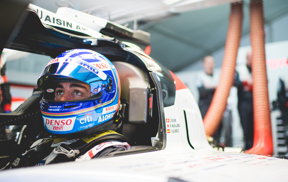 Alonso fue el más rápido de los pilotos del coche 8 por la noche.