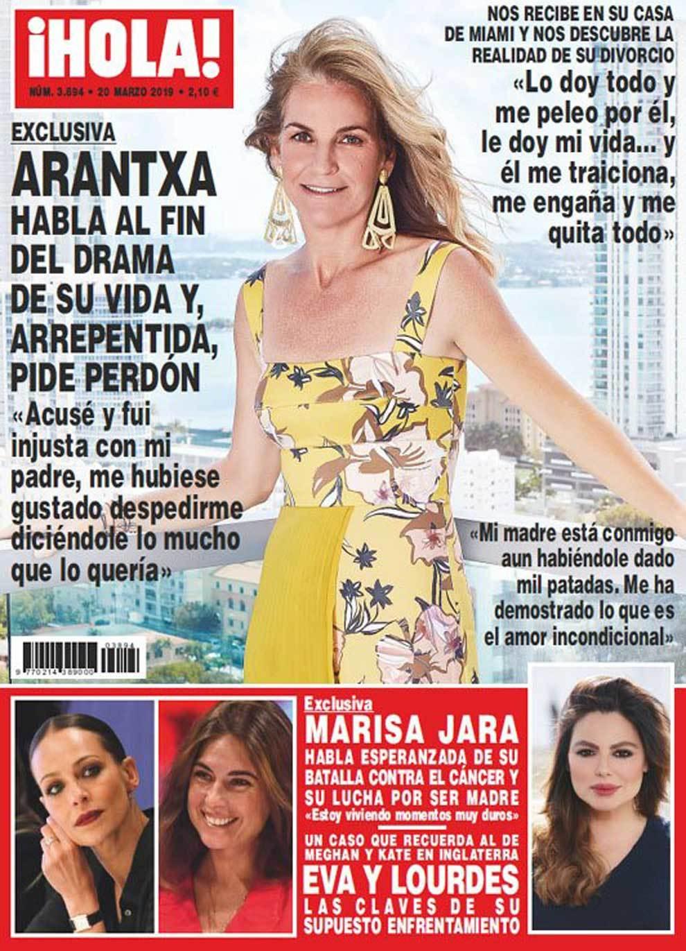 Portada de la revista HOLA con Arantxa Sánchez Vicario