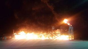 Imagen del incendio en Jerez