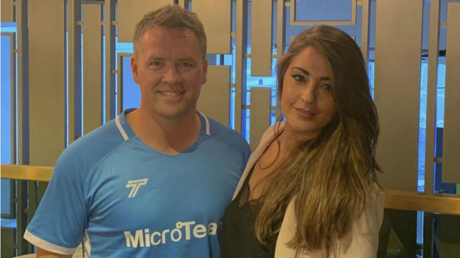 Michael Owen with Marca Lorena Gonzalez