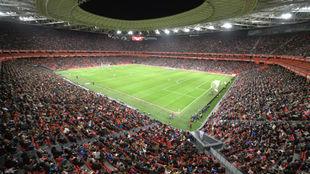 Panorámica de San Mamés en el partido de cuartos de final de Copa de...