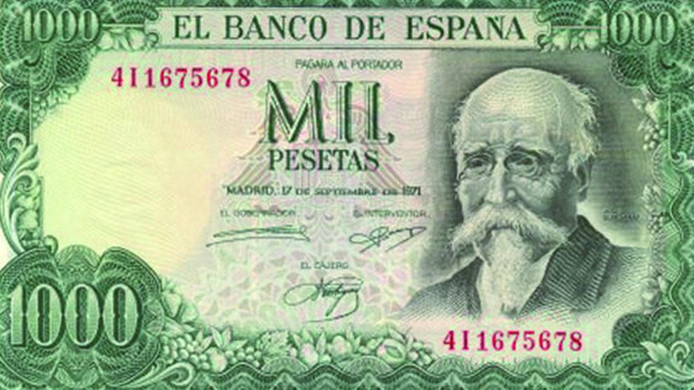 Billetes en pesetas