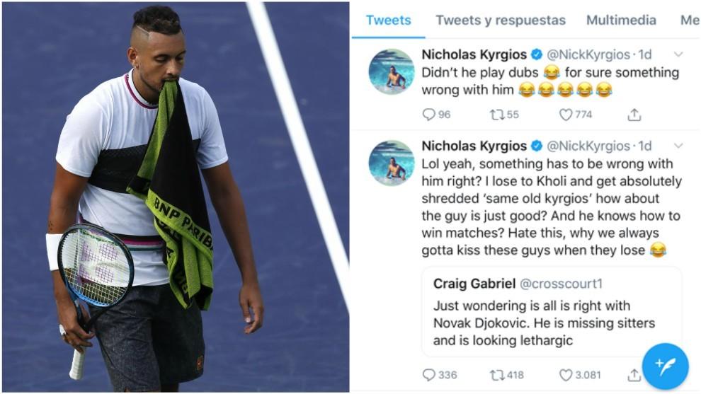 Kyrgios y sus famosos tuits
