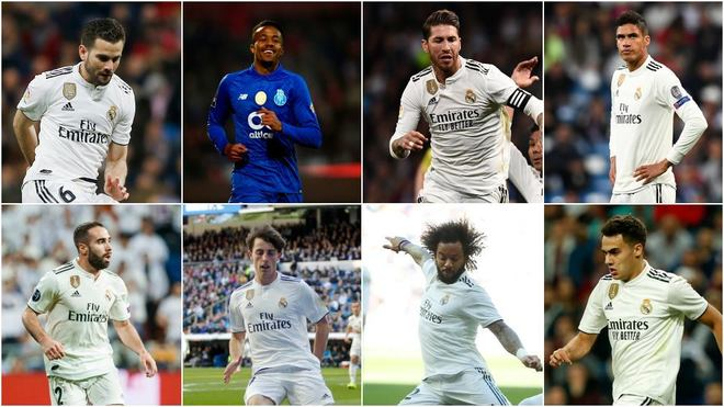 Nacho, MIlitao, Ramos, Varane, Carvajal, Odriozola, Marcelo and...