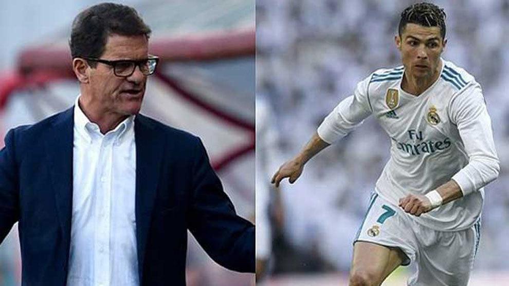 Fabio Capello and Cristiano Ronaldo.