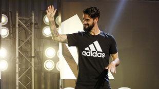 Isco Alarcón, durante la presentación de su acuerdo con Adidas.