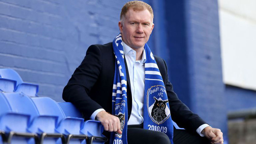 Paul Scholes leaves Oldham coaching role after just one month