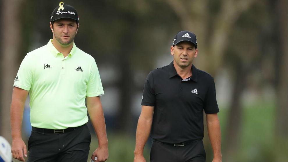 Jon Rahm y Sergio García, en la primera jornada de The Players.