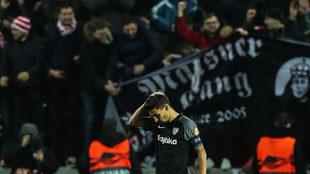 Jesús Navas, tras encajar el Sevilla el cuarto gol que suponía la...